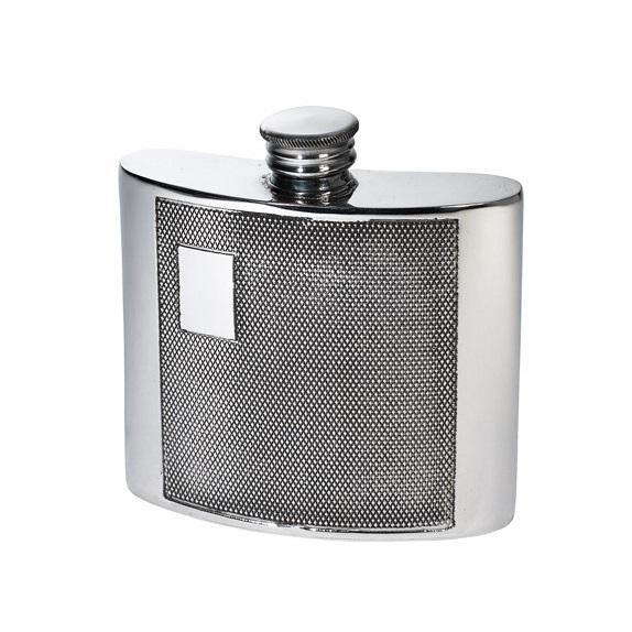 Personalised 4 oz Barley Pewter Kidney Hip Flask