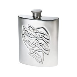 Personalised Knox 6 oz Pewter Kidney Flask