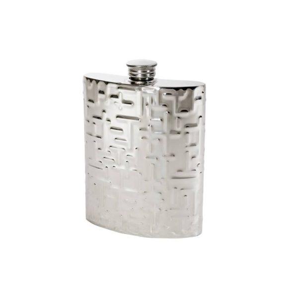 Personalised 6 oz Metropolitan Pewter Kidney Hip Flask