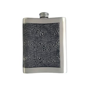 Personalised 6 oz Red Room Pewter Kidney Flask