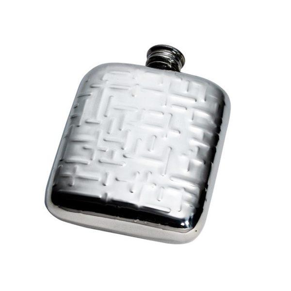 Personalised 4 oz Metropolitan Pewter Kidney Hip Flask