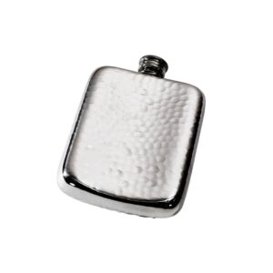 Personalised 4 oz Hammered Pewter Pocket Hip Flask