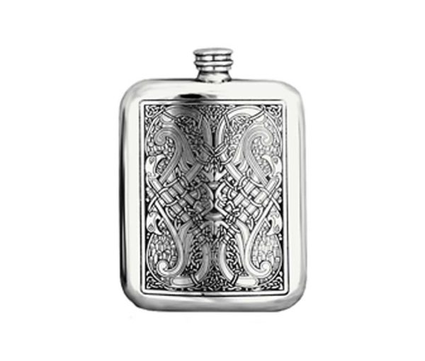 Celtic Knot Engraved Hip Flask with Free Engraving