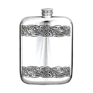 Celtic Engraved Hip Flask with Free Engraving