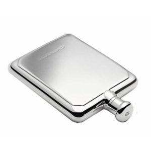 Silver Rectangular Engraved Hip Flask with Free Engraving