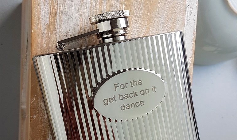 Free Hip Flask Engraving - Personalised Hip Flasks UK