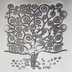 Personalised 4 oz Tree of Life Tree Pewter Kidney Flask