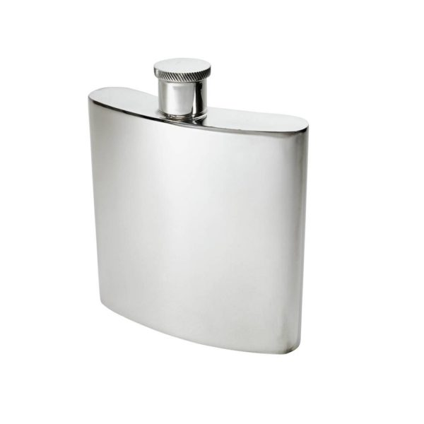 Personalised 26 oz Giant Plain Pewter Kidney Hip Flask